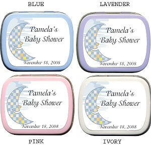 Filled Smiling Moon Baby Shower Mint Tins imagerjs