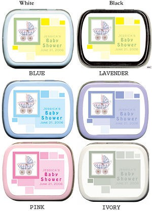 Filled Modern Baby Carriage Shower Tin imagerjs