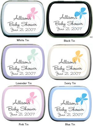 Filled Beautiful Butterfly Baby Shower Mint Tin imagerjs