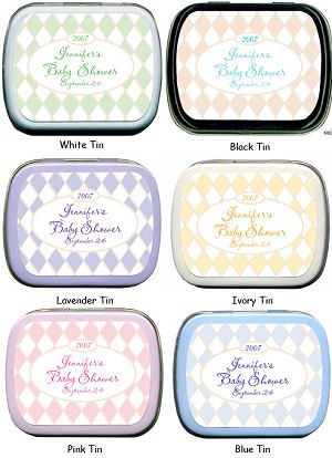 Filled Diamond Argyle Baby Shower Tins imagerjs