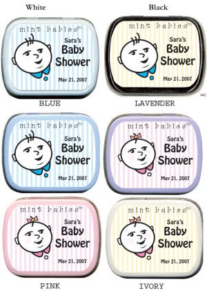 Filled Mint Babies - Striped Baby Face Shower Tins imagerjs