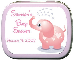 Filled Adorable Elephant Baby Shower Personalized Tin imagerjs
