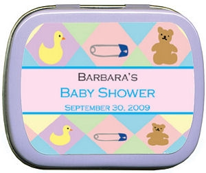 Filled Baby Essentials Pastel Baby Shower Tin Favor imagerjs