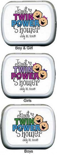 Filled Twin Power Baby Shower Mint Tins imagerjs