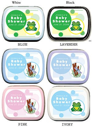 Frog or Dragonfly Baby Shower Mints imagerjs