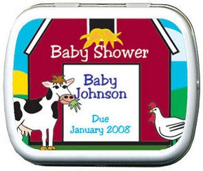 Filled Barnyard Baby Personalized Shower Tins imagerjs