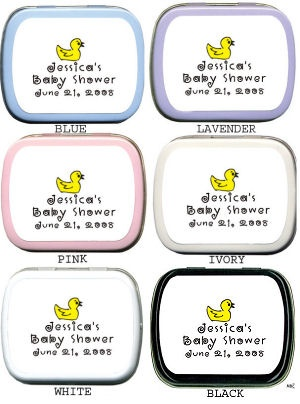 Filled Yellow Ducky Baby Shower Mint Tin imagerjs
