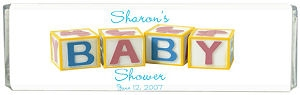 Baby Blocks Personalized Shower Chocolate Bar image