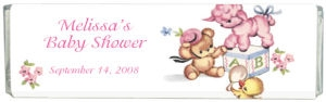 Little Toys Baby Shower Chocolate Bar image