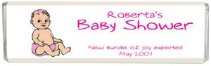Caucasian Baby Shower Chocolate Bar data-pin-no-hover=