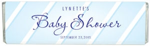 Striped Baby Shower Custom Chocolate Bar data-pin-no-hover=