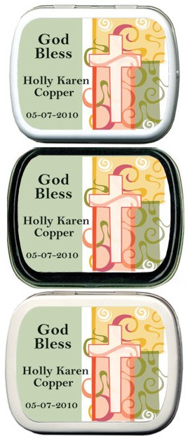 Filled Swirled Cross Personalized Mint Tin imagerjs