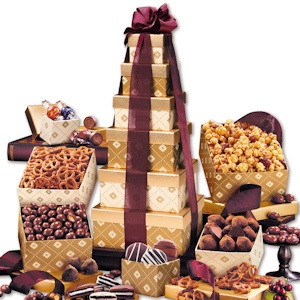 Golden Holiday Delights Tower imagerjs