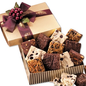Gourmet Brownies in Corporate Logo Gift Box imagerjs