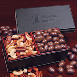 Nutty Duos in Faux Leather Keepsake Box