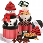 Smiling Snowman Corporate Gift Tower