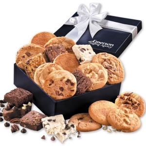Cookie & Brownie Assortment in Navy Logo Gift Box imagerjs