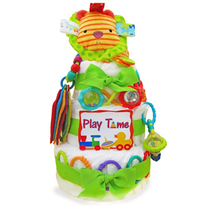 Playtime Baby Three Tier Diaper Cake imagerjs