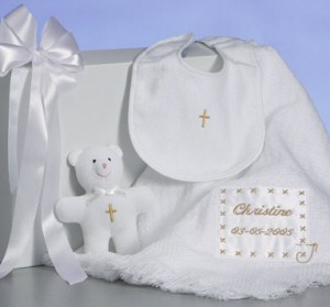 Personalized Christening Keepsake Blanket Set imagerjs