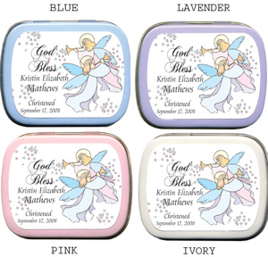 Filled Trumpeting Angels Personalized Mint Tin imagerjs