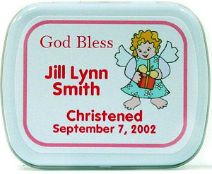 Filled Girl Angel Baptism Mint Tins imagerjs