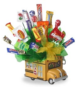 School Bus Candy Bouquet image