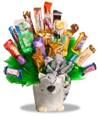 Ceramic Cat Candy Bouquet data-pin-no-hover=
