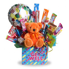 Get Well Teddy Bouquet image