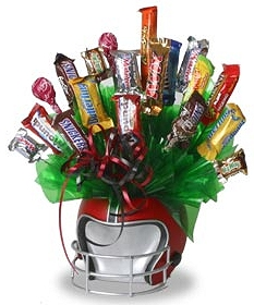 Football Helmet Candy Bouquet image