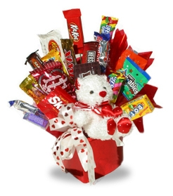 Happy Valentine Candy Bouquet data-pin-no-hover=