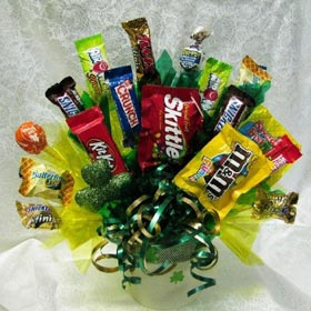Good Luck Shamrock Candy Bouquet image
