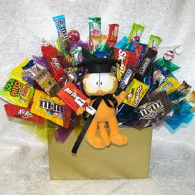 Garfield Graduation Candy Bouquet data-pin-no-hover=