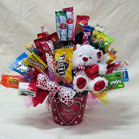 True Love Valentine Candy Bouquet data-pin-no-hover=