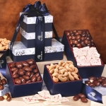 Maple Ridge Farms Nutty and Sweet Snowflake Gift Tower