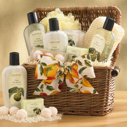 Perfect Pear Bath Gift Basket image