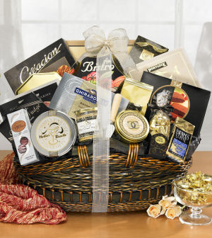 Wedded Bliss Gift Basket data-pin-no-hover=