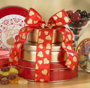 Valentine Sweets Tower data-pin-no-hover=