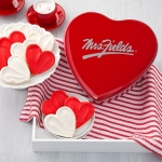 Mrs. Fields Classic Heart Frosted Cookies Tin