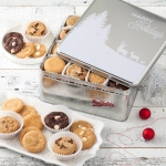 Mrs. Fields Happy Holidays 24 Cookie Tin