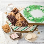 Mrs. Fields Hexagon Wreath Cookie Box