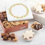 Mrs. Fields Dessert Combo Wreath Tin