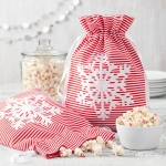 Mrs. Fields Peppermint Snowflake Popcorn Tote