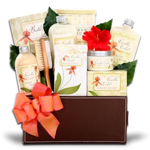 Deluxe Vanilla Orchid Spa Gift Basket imagerjs