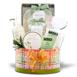 Zen and Tea Spa Gift Basket imagerjs