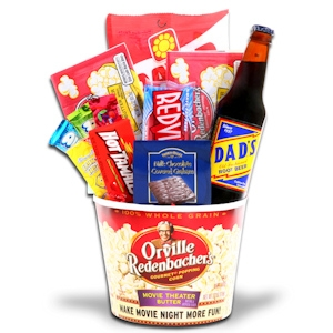 Movie Night with Dad Gift Basket imagerjs