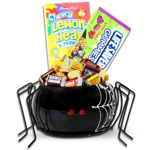 Ceramic Spider Halloween Candy Bowl imagerjs