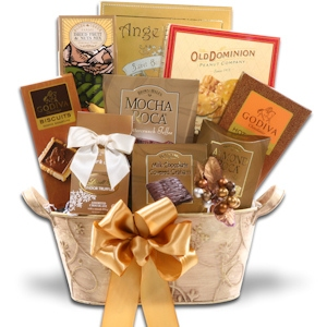 Golden Decadence Gift Basket imagerjs