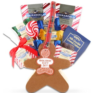 Gingerbread Holiday Ghirardelli Treat Basket imagerjs