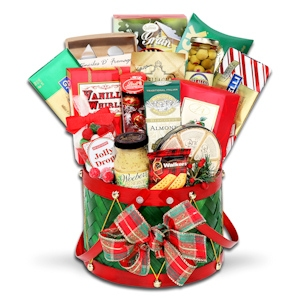 Grand Holiday Drum Gift Basket imagerjs