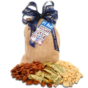 Father's Day Burlap Bag of Nuts imagerjs